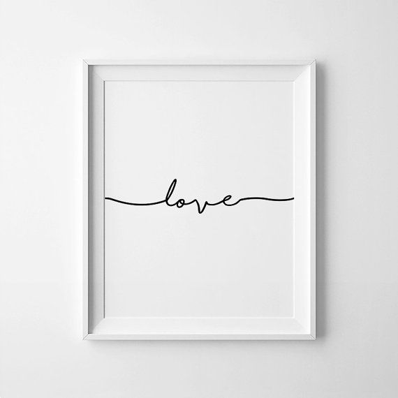 Love Poster Downloadable Prints Nursery Wall Prints by printabold