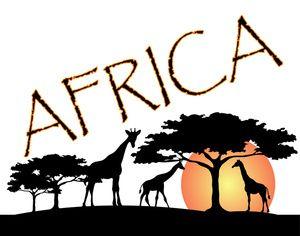 African logos design   ... Clip Art Image: African Wildlife Featuring the Giraffes of Africa