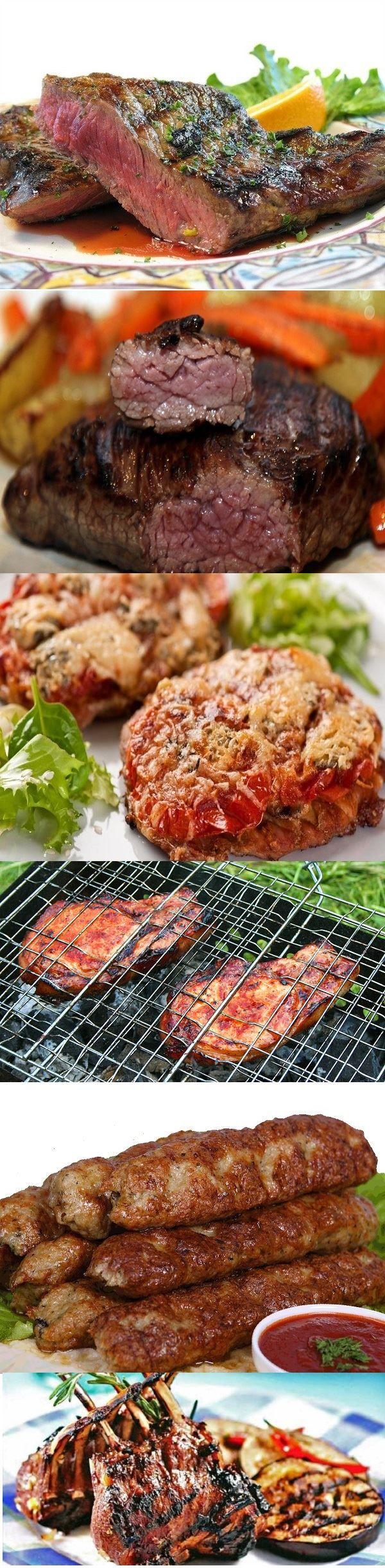 Шесть рецептов мяса на гриле   Нет высшего удовольствия, чем собраться компанией на лоне природы и пожарить мясо над весело пляшущим огоньком.
