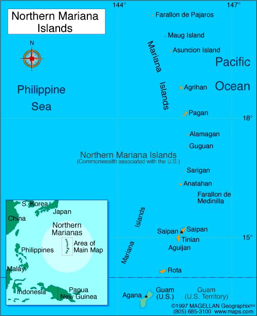 Northern Mariana Islands Atlas: Maps and Online Resources | Infoplease.com