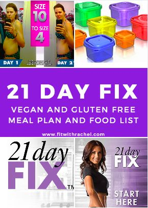 vegan and gluten free meal plan and food list for 21 day fix! #21dayfix #vegan #glutenfree