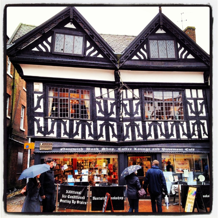 The Bookshop, Coffee Lounge And Pavement Cafe In Nantwich, England