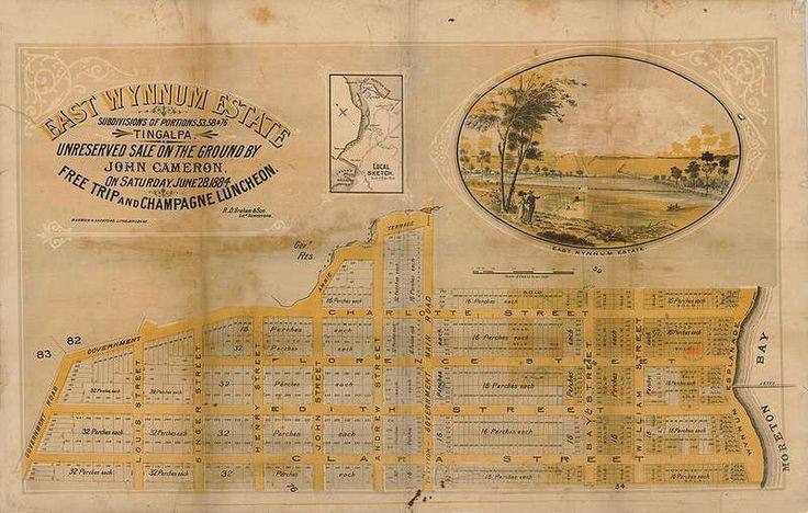 Estate map for East Wynnum Estate, Wynnum, Queensland, 1884