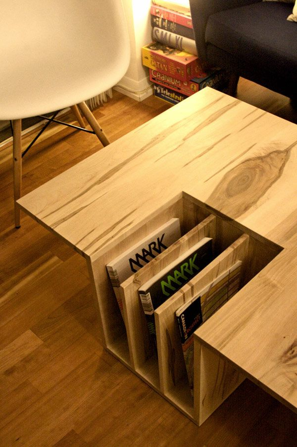 Creative Wooden Table Used As Books Holder Unique Wood Furniture