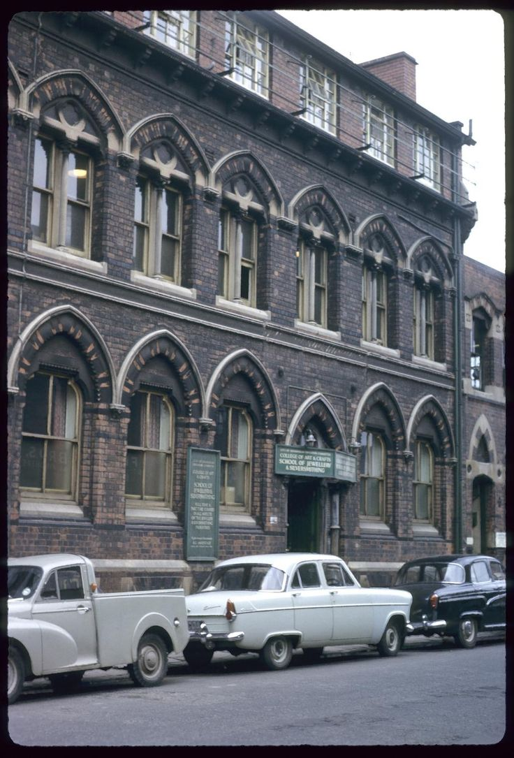 The school of jewellery and silversmiths. Victoria Street in the Jewellery Quarter Birmingham UK. Phyllis Nicklin photo 1963