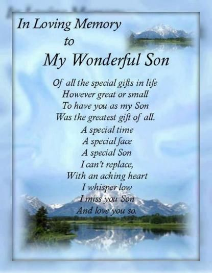My Son I Miss Those Who Are Close To Me But Now Angels Story