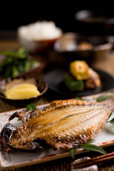 鯵の開き、焼き魚、和食
