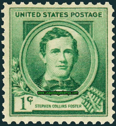 Commemorative Stamp | Commemorative Stamps: 1c Composer Stephen Collins Foster, Famous ...