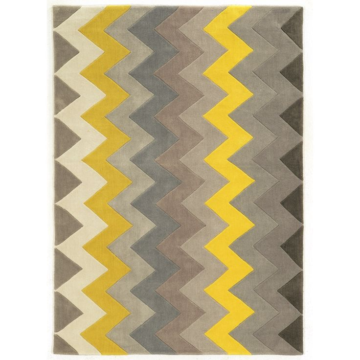 Brown and yellow area rug