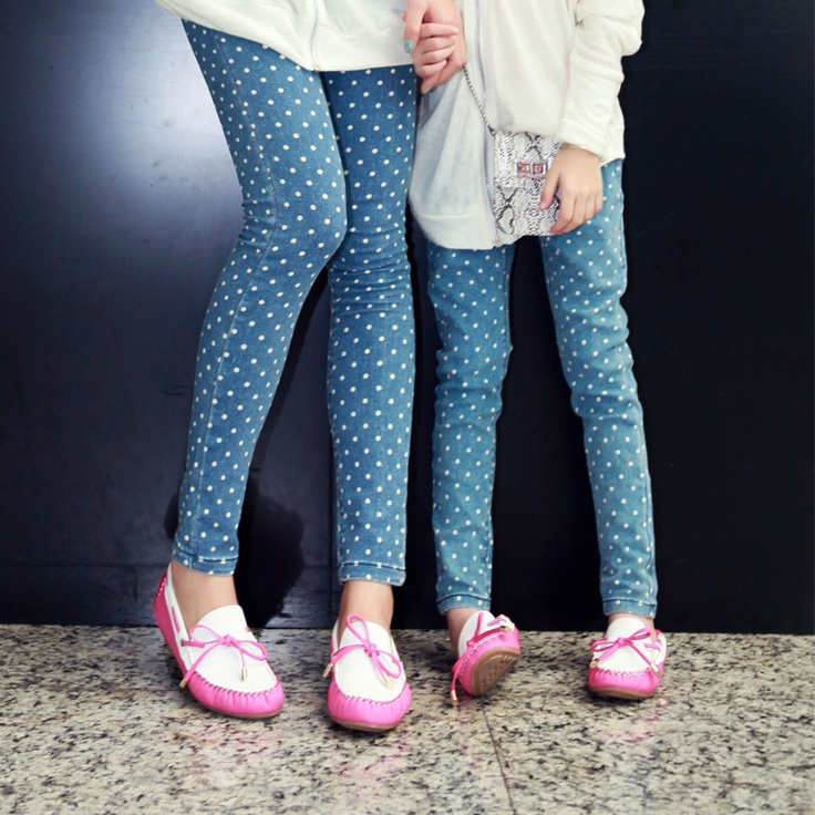 Free Shipping Onlykiss autumn family fashion all-match legging clothes for mother and daughter dot skinny pants ok2q312 on AliExpress.com. 12% off $27.49