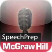 """SpeechPrep by McGraw Hill - If you're nervous about public speaking, this app can help you! By planning and practicing your speech, you can """"reduce anxiety"""" and """"appear more confident and trustworthy"""" (according to The App Store)."""