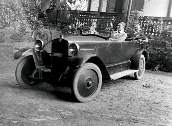 Young boy learning to drive, 1900s.Digital Download, Instant Printable, Vintage Photo, Black & White, Historical Photo, Instant Download