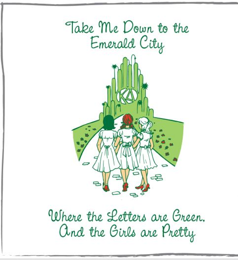 wizard of oz bid day theme??? THE FACT THAT THIS IS TO THE TUNE OF PARADISE CITY IS MAKING MY DAY