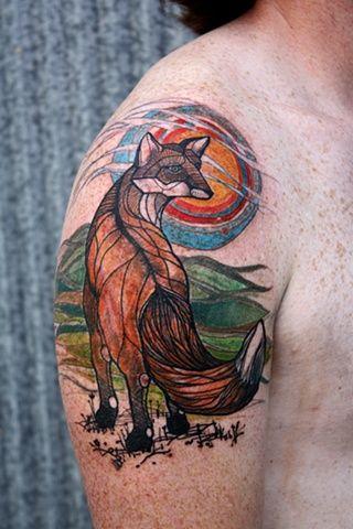 David Hale fox tattoo