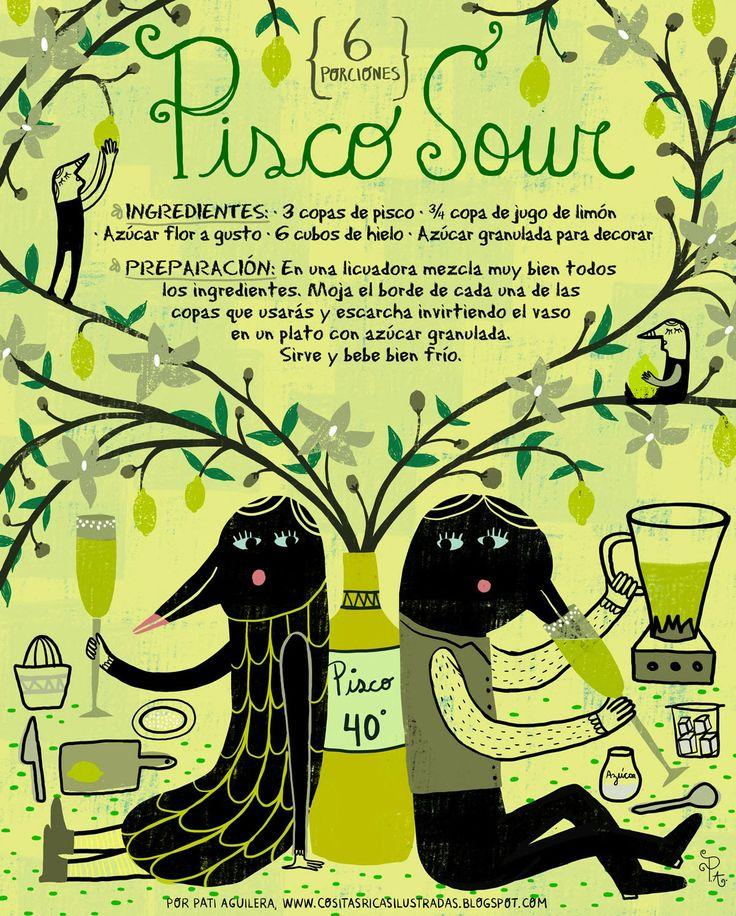 Cositas Ricas Ilustradas por Pati Aguilera: Pisco Sour (Clásico)