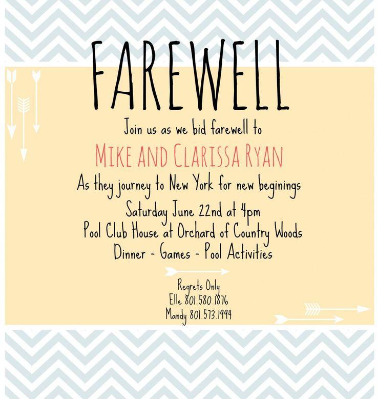 invitation card for teachers on farewell party  farewell