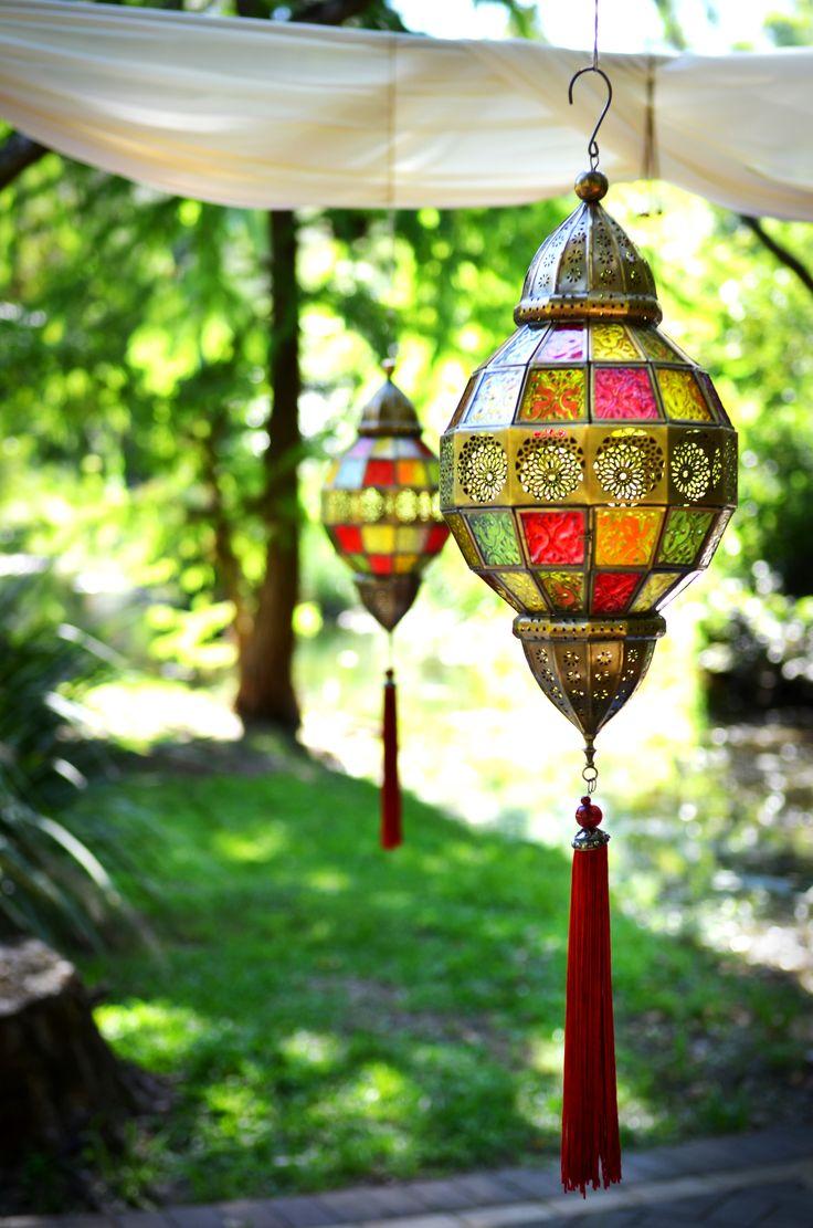 Large colourful lanterns