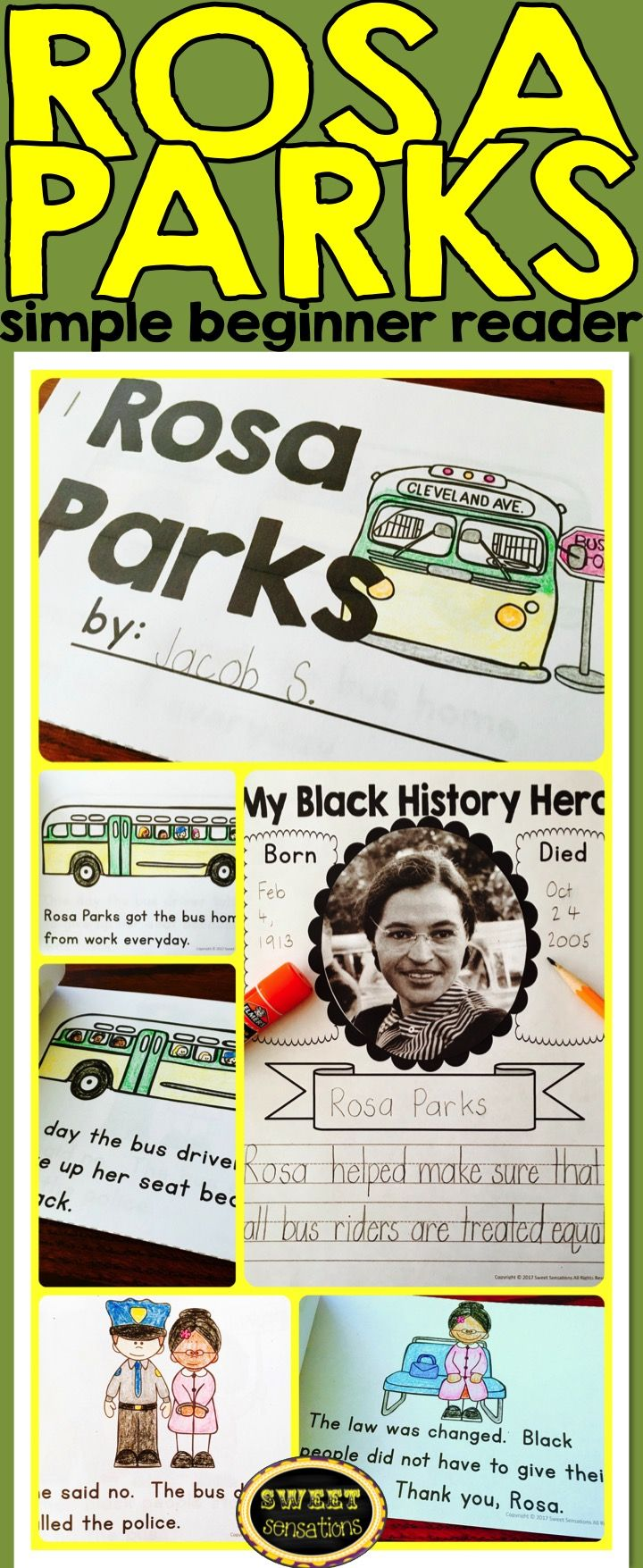 best ideas about rosa parks story rosa parks a simple retelling of the rosa parks story makes this little book perfect for beginner readers