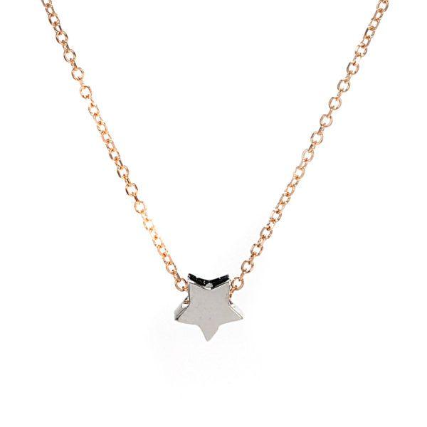 Κολιέ αστέρι χρυσό Κ14 4160