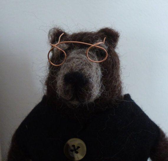 Sebastian Bear: Needle Felted Character