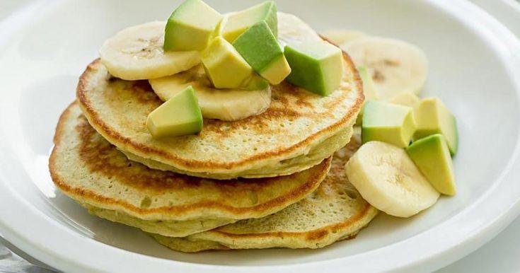 Avocado Banana Pancake Stacks