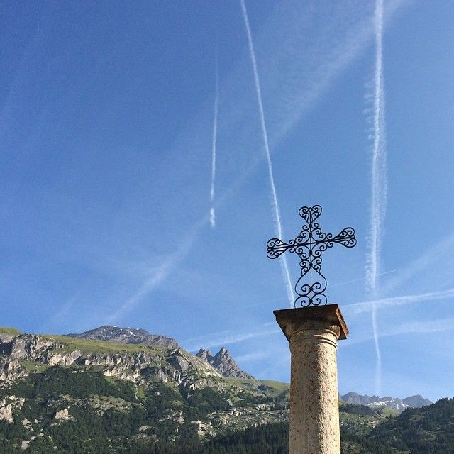 Lanslevillard ve městě Savoie, Rhône-Alpes