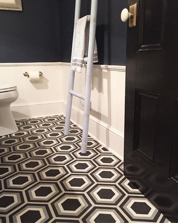 "1,675 Likes, 20 Comments - Cement Tile Shop (@cementtileshop) on Instagram: ""The in stock Strata III hex pattern, a black door and a white ladder...yes please! #Repost…"""
