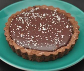 Chocolate–Caramel Tartlets with Fleur de Sel. From the James Beard Foundation...yum!