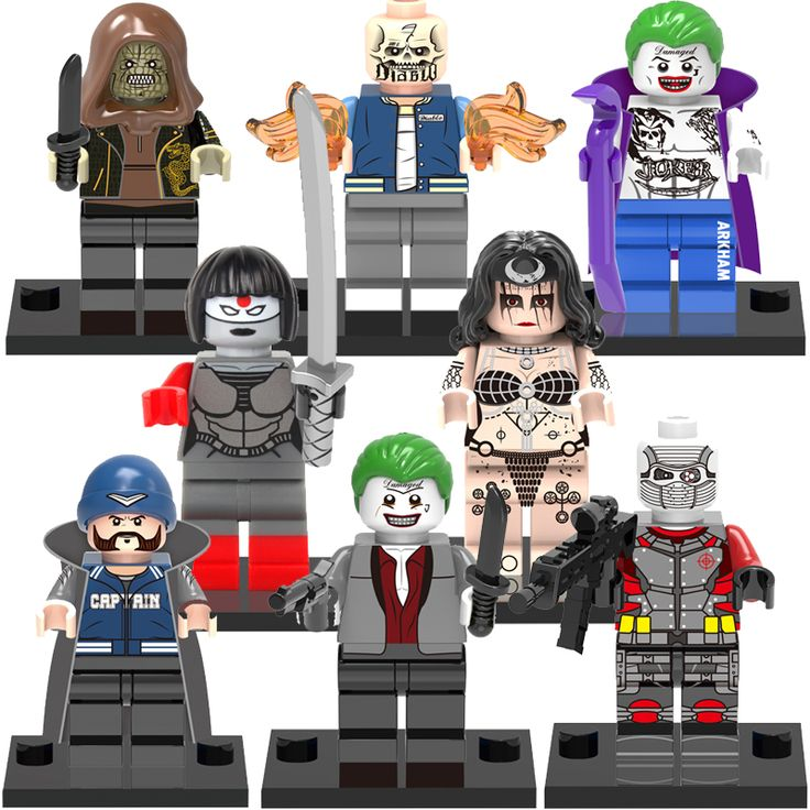 Single Sale Blocks toy Fallen Enchantress Clown Witch LEGOes Minifigures X0112 Super Heroes Suicide Squad model building Toys