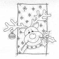 Great Impressions Merry Merry Christmas Rubber Stamps