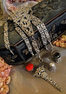 antique sewing chatelaine