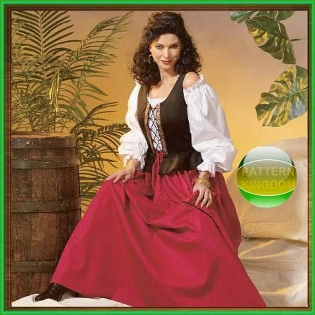 Sultry Medieval/Renaissance Peasant/Wench Pattern