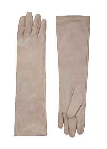 Gustav Handsker sand 20822 Long Leather Gloves wood smoke – Acorns