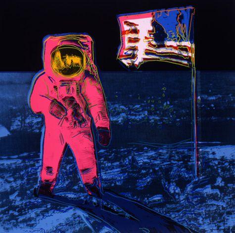 Moonwalk. Andy Warhol. Screen print on Lenox Museum Board. 1987. The Andy Warhol Museum, Pittsburgh.