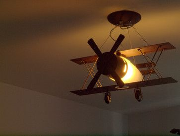 Aviation airplane light fixture. A nice and subtle way to add an aviatoru0027s  touch for