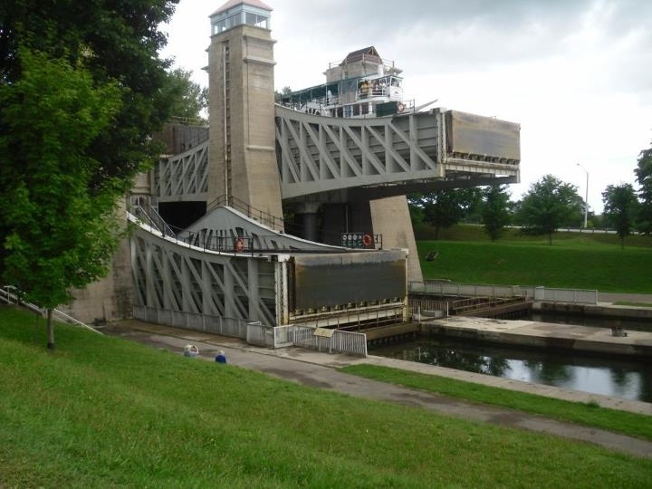 Not sure if this counts as architecture. These are the lift-locks in Peterborough, Ont.