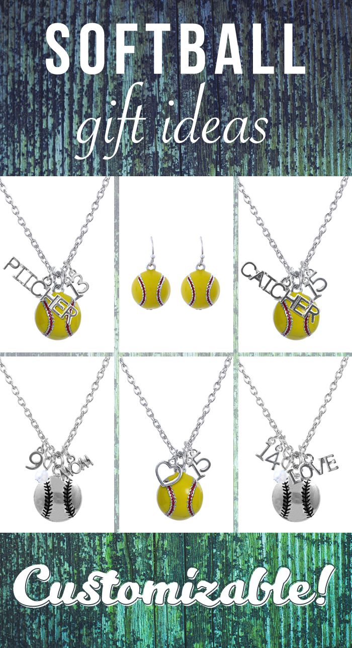 Customizable jewelry! Add your number or a heart! Great Softball Gift. Attack Your Passion!