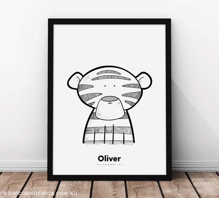 'Rohan' The Tiger - Personalised - Kids Print - Chico & Chica