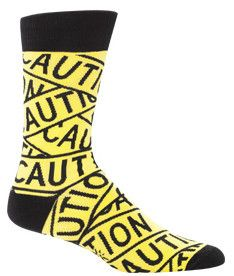 Caution: these socks are going to become your new favorite pair. We suggest that you invest in more than one pair immediately to avoid catastrophe. With such bright colors and a bold pattern that spea