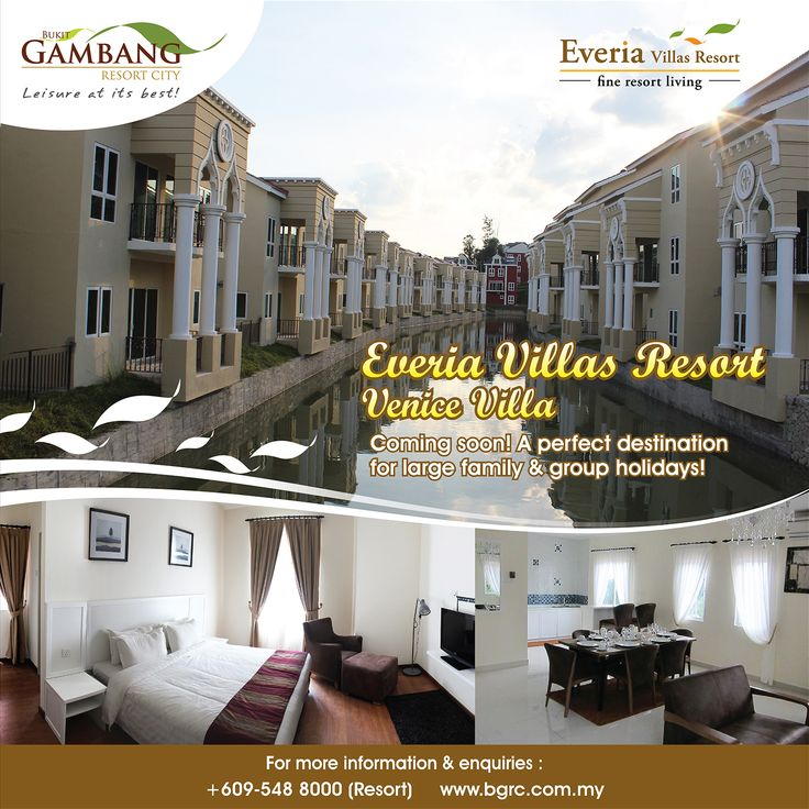 """Enjoy a getaway with your loved ones in a special environment at Everia Villas Resort, Kuantan. You will be only back home after experiencing a wonderful relaxing family holidays at Bukit Gambang Resort City, Kuantan (BGRC). Buy your Family Holiday Package at http://bgrc.com.my (""""Live Chat"""" us Now!) to enjoy Year End special online discounts!"""