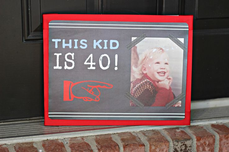 Image of: Birthday 40th Birthday 50th Birthday 60th Birthday 70th Birthday Party Decorations Pinterest Best This Kid Is 40 Party Images On Pinterest 40 Birthday