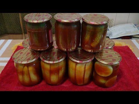 Консервация кабачков на зиму, рецепт с кетчупом или соусом - YouTube