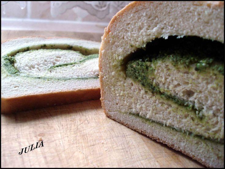 Мраморный хлеб с песто