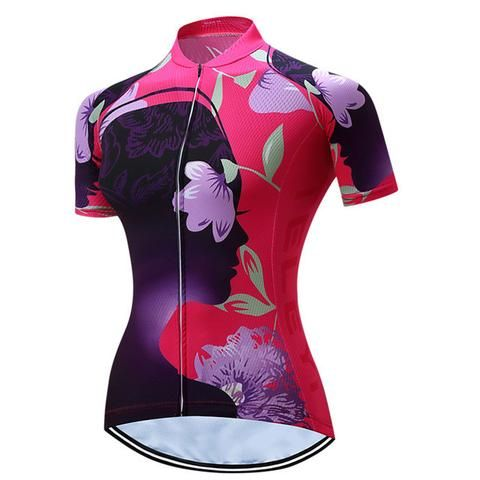 Women's Cycling Jersey With Cool Max Fabric