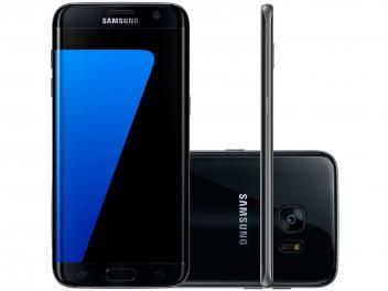 "Smartphone Samsung Galaxy S7 Edge 32GB Preto 4G - Câm. 12MP + Selfie 5MP Tela 5.5"" Quad HD Octa Core"