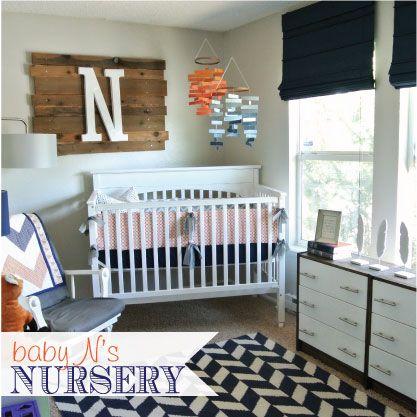 71 best nurseries images on pinterest - Modern boy nursery themes ...