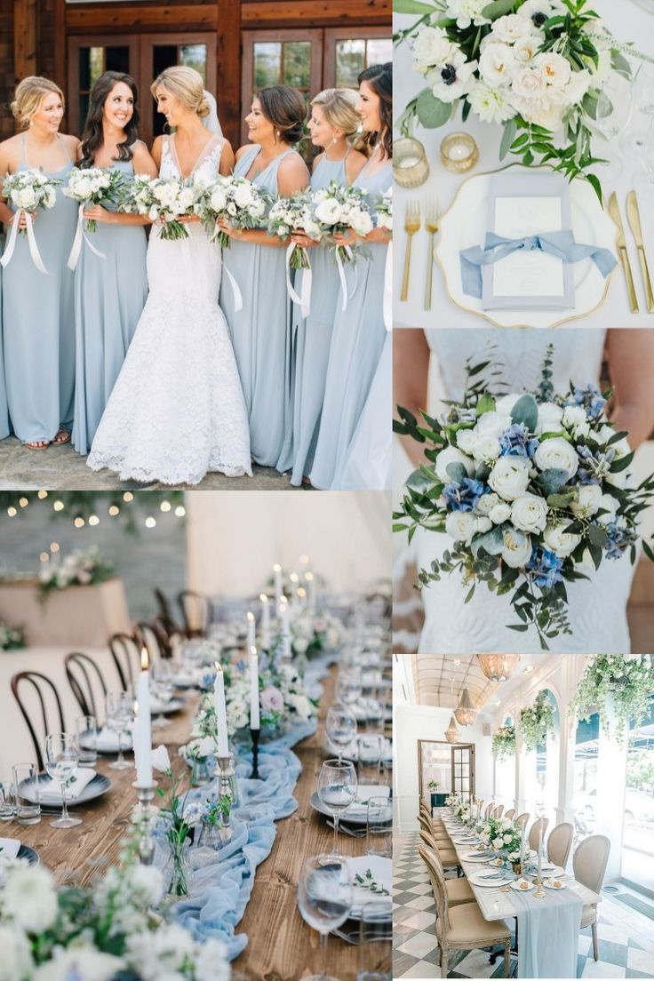 20 Light Blue Wedding Color Ideas for Spring 2020 in 2020