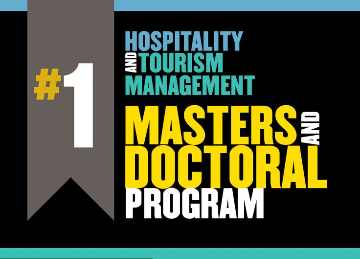 College of Health & Human Sciences: #1 Post Graduate Hospitality and Tourism Management program in the country!