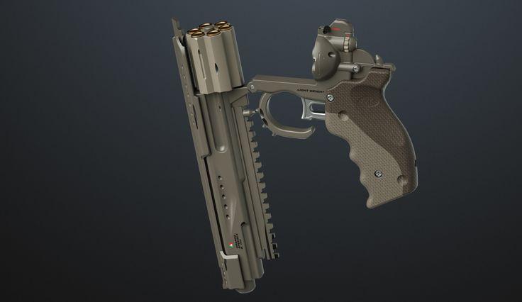ArtStation - Concept revolver - Rhino and octane., Mac Sud