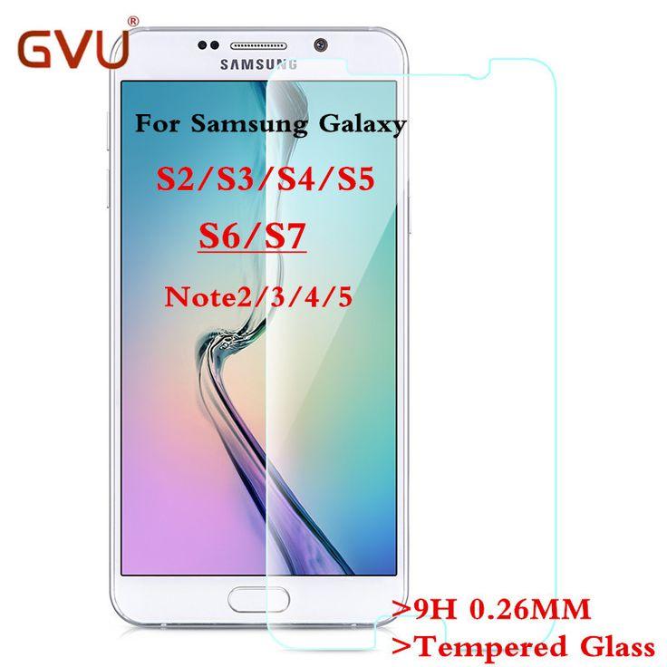 Premium 0.26mm szkło hartowane 2.5d film przeciwwybuchowe screen protector dla samsung galaxy s2 s3 s4 s5 s6 s7 uwaga 2 3 4 5 Film
